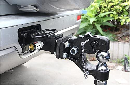 YAXINTRD Elemake 5//8 Trailer Hitch Receiver Lock Anti-Theft Lock Chrome Hitch Pin for Class III 3-1//2 Spans IV V Hitches