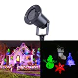 NOPTEG Projector Lights, Outdoor IP65 Waterproof Landscape Spotlight LED Projection Light Lamp Show for Patio, Lawn, Garden, Holiday Decoration (Xmas)