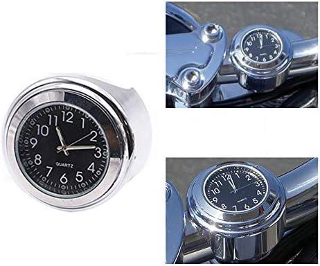 Donpow Horloge de moto montre de guidon de moto universelle pour guidon de 7//8 horloge de montage de guidon de moto en quartz lumineux