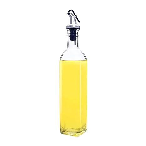 Angker - Botella de aceite, dispensador de aceite de oliva de cristal, dispensador de