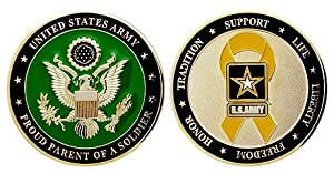 Army Proud Parent Challenge Coin