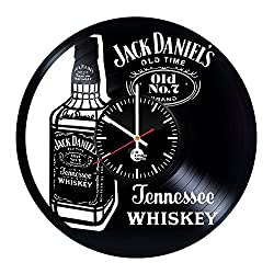 Jack Daniels Vinyl Record Wall Clock - Get unique Home Room wall decor - Gift ideas for boys and girls, men - Drink Unique Modern Art (1)
