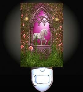 Unicorn Rose Window Decorative Night Light