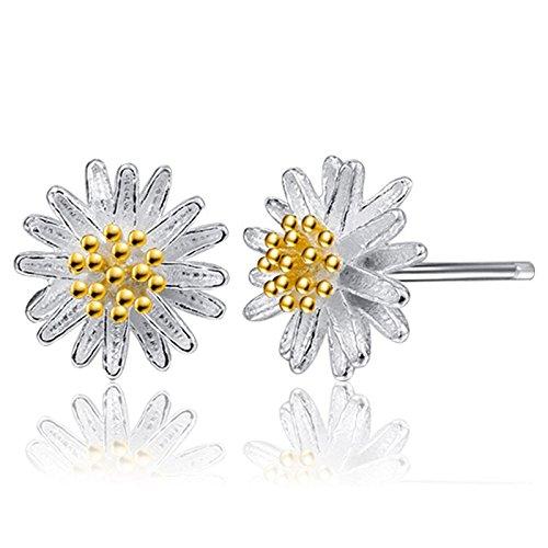 Yanvan Earrings for Women Cheap, 1Pair Women Cute Daisy Flower Earrings Ear Stud Jewelry