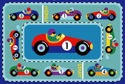 Vroom Race Car Rug OLIVE KIDS 19 x 29 Rug ()