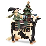 Williraye Moolalala-lala-lala! Snowman on Cow with Tree and Star