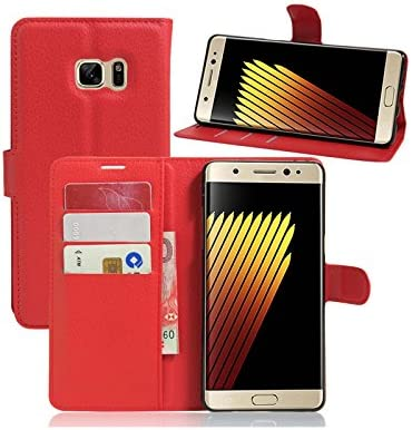 Funda Samsung Galaxy Note 7 Flip Case Carcasa Con Tapa y Con Cierre Magnético, Color marrón: Amazon.es: Electrónica