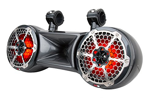 DS18 CF-62TD Hydro Black 6.5' Water Proof Double Wakeboard Tower Speaker (with Driver System - Integrated RGB LED Lights - 750 Watts Max - 250 Watts RMS)