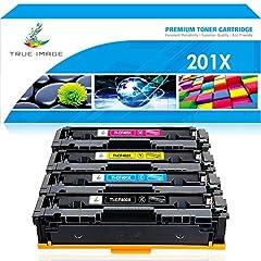 True Image Compatible Toner Cartridge Replacement for HP 201X 201A CF400X CF400A M277dw M252dw Toner HP CF401X CF402X CF403X HP Laserjet MFP M277dw M277c6 M277 M277n Pro M252dw M252n M252 Ink Printer hp 201a black cf400x black