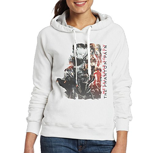 Price comparison product image Bro-Custom Metal Gear Solid V-The Phantom Pain Hoodies For Women's Size L White