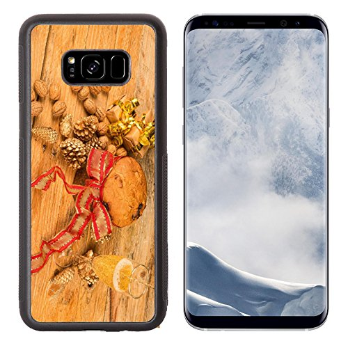 Luxlady Samsung Galaxy S8 Plus S8+ Aluminum Backplate Bumper Snap Case IMAGE ID: 34109034 Still life with a traditional panettone in a festive setting (Traditional Fruitcake)