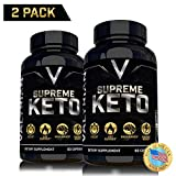 2 Pack Supreme Keto Pills from Shark Tank - Best Keto Pills - Weight Loss Supplement to Burn Fat - Boost Energy - Metabolism - Best Ketosis Supplement for Women and Men - Best Keto Diet - 60 Capsules