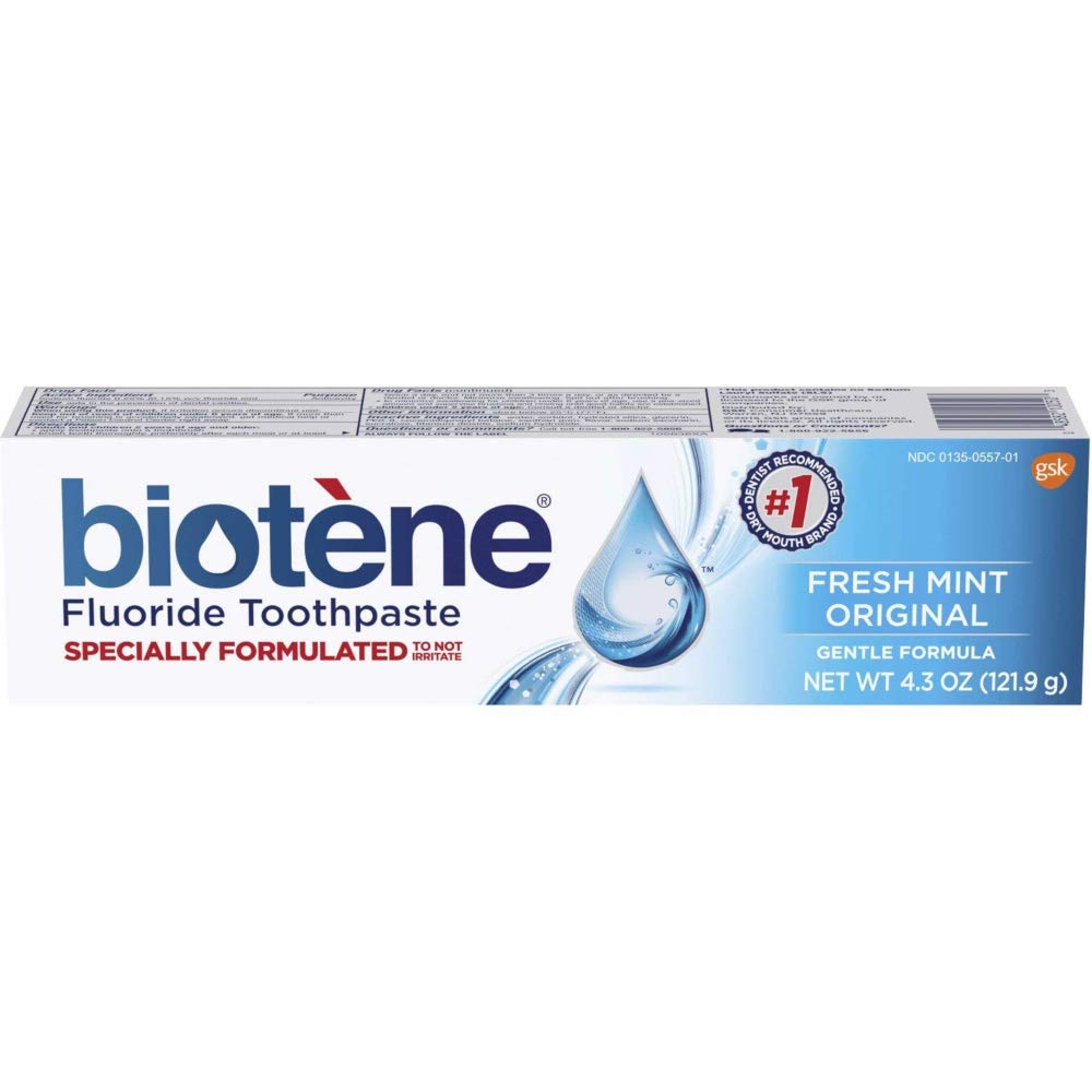 Biotene Fresh Mint Original Gentle Formula Fluoride Toothpaste, 4 3 Ounces