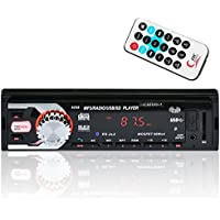 CATUO Car Stereo Receiver with Bluetooth In-Dash Single Din Car Radio,Wireless Remote Control Support MP3 Player/USB/SD/AUX/FM Radio