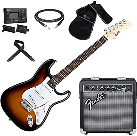 Fender Squier Stratocaster SB; Kit Guitarra Eléctrica + ...