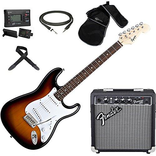 Fender Squier Stratocaster SB; Kit Guitarra Eléctrica + Amplificador Fender Frontman 10G: Amazon.es: Instrumentos musicales