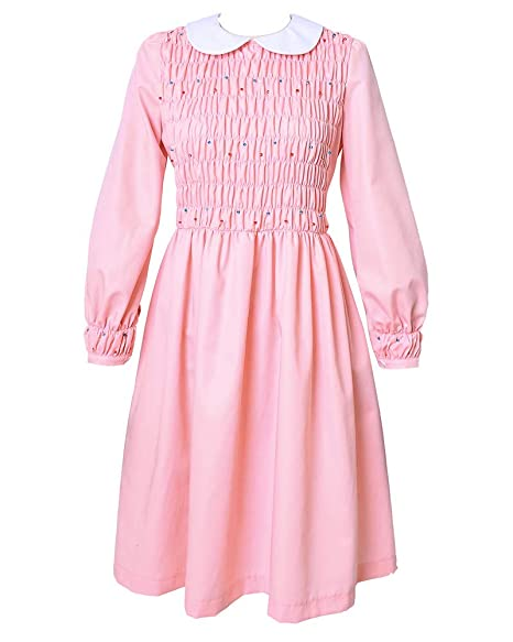 Miccostumes Girl S Pink Eleven Cosplay Beading Dress Costume Including Socks