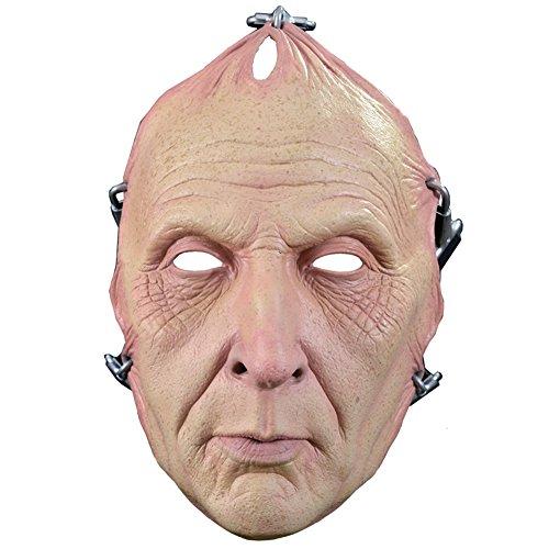Jigsaw Killer Costumes (Saw Jigsaw Flesh Pulled Killer Scary Latex Adult Halloween Costume Mask)
