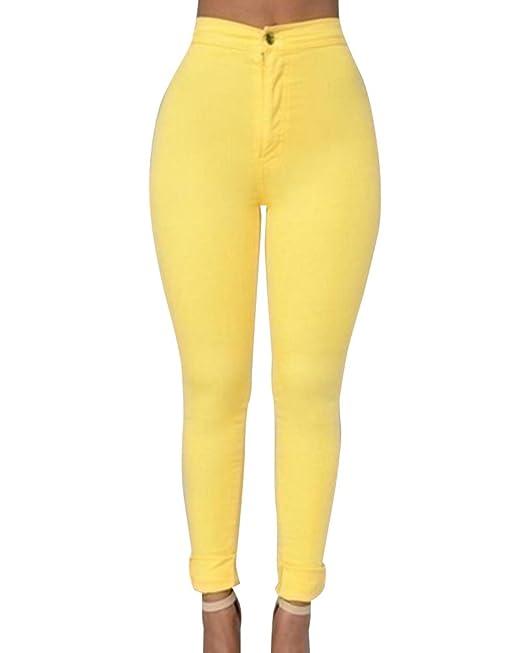 16acb9aa58 ZhuiKun Denim Pantalones Jeans Vaqueros de Mujer - Push Up Pantalones  Vaqueros Elásticos  Amazon.es  Ropa y accesorios