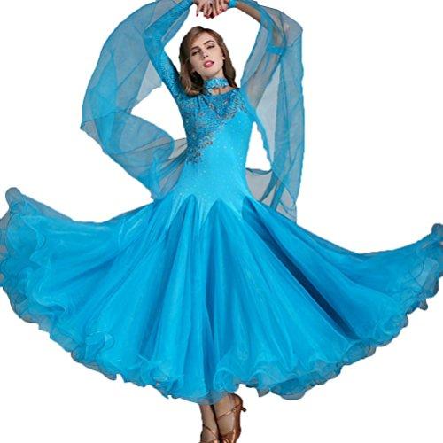 Niña Vals Conjunto de Baile Vestidos de Competencia Encaje Disfraz de Rendimiento Mujer Desgaste de Baile Moderno: Amazon.es: Deportes y aire libre