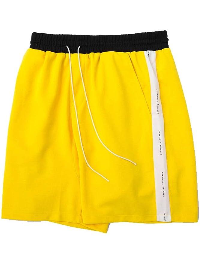 ROBO Bermuda Shorts Hombre Pantalones Patchwork Cintura Elástica ...