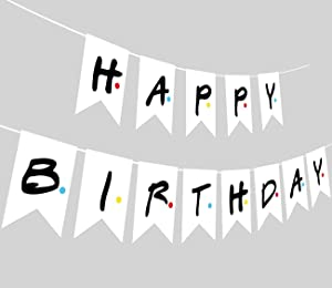 Friends TV Show Happy Birthday Party Banner, Friends Theme Party Banner Ideal for Friends Fan Birthday Party Decorations Supplies