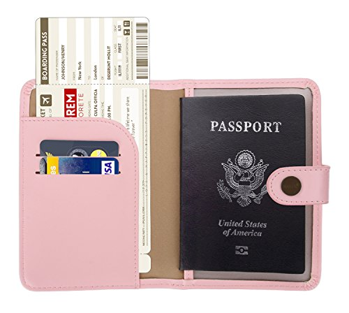 - Zoppen Rfid Blocking Travel Passport Holder Cover Slim Id Card Case (#9 Pink)