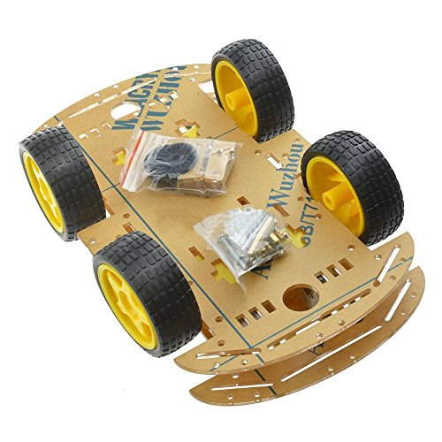 Semoic New 4WD Robot Smart Car Chassis Kits car with Speed Encoder for Arduino M26