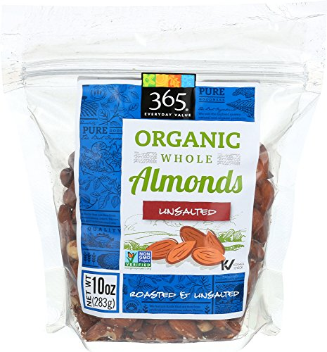365 Everyday Value, Organic Almonds - Roasted & Unsalted, 10 oz ()