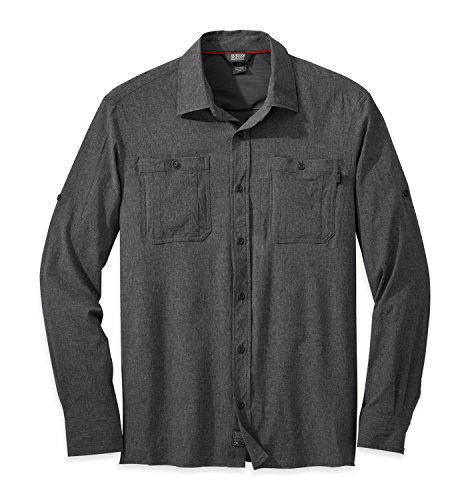 Outdoor Research Men's Wayward L/S Shirt, Charcoal, Large from Outdoor Research