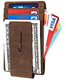 Travelambo Money Clip Front Pocket Wallet Slim Minimalist Wallet RFID Blocking (Elite Khaki)