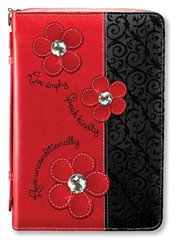 Divinity Boutique Black and Red Daisy (XL) Bible Cover