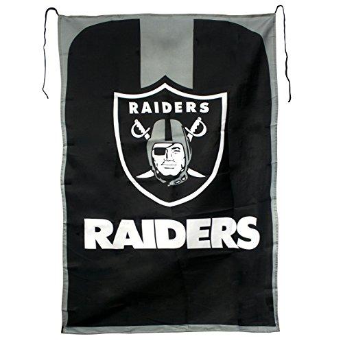 Raider Football Costume - NFL Oakland Raiders Team Fan Flag, 31.5 x 47-Inches, Black