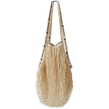 Bolsa de red de algodón natural, reutilizable, bolsa de ...