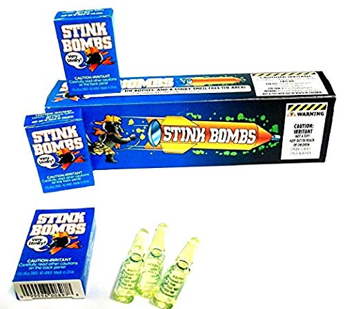 ((36) Stink Bombs - Stinky Glass Gag Prank Fart Joke (1 case of 36) Novelty)
