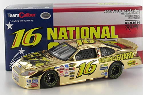 Greg Biffle #16 National Guard / 2005 Ford Taurus / 1:24 Scale Preferred Series Gold Chrome Diecast Car