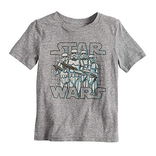 Jumping Beans Little Boys' 4-12 Star Wars Trooper Tee 8 Charcoal Snow