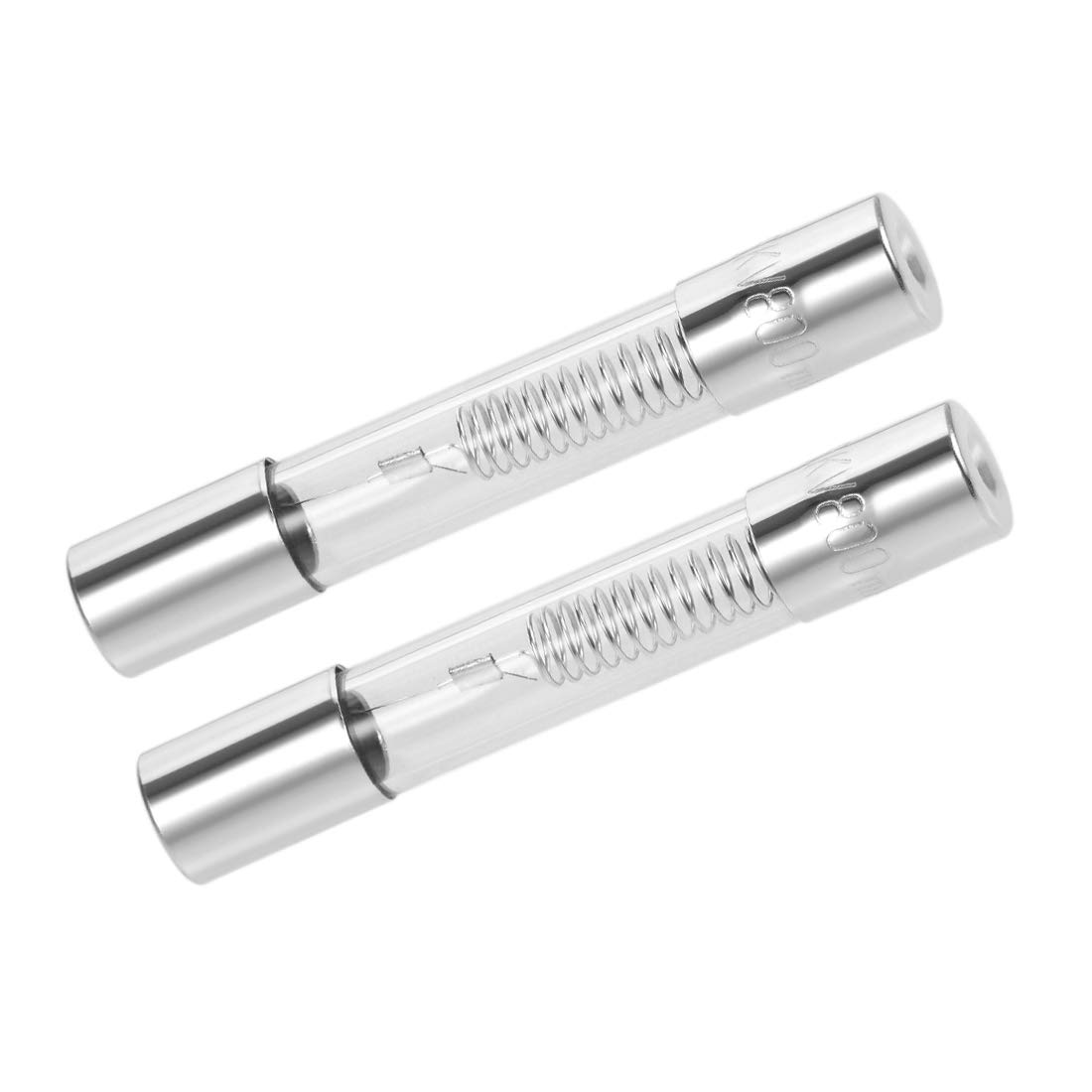 Sourcingmap Slow Blow 0.6A 2pcs fabricados de vidrio soplado lento Fusibles de cartucho para hornos y para microondas de acci/ón lenta de 6 mm x 40 mm de 5000 V