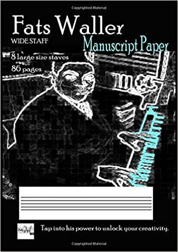 fats waller manuscript paper wide staff without bar lines 8 large