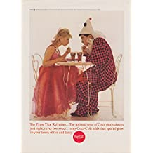 That spirited taste of Coca-Cola ad 1963 costume party clown & blonde NY
