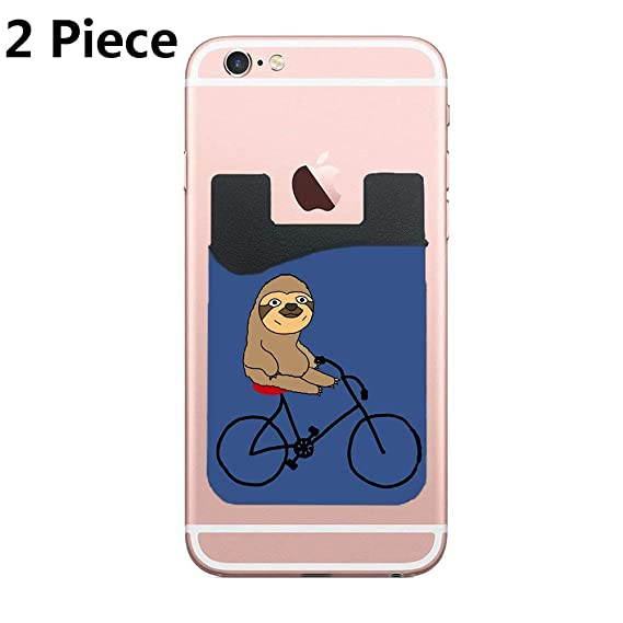 Amazon.com: Cellcardphone Two Funny Sloth Riding Bicycle ...