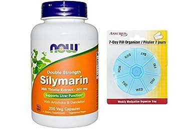 AHORA silimarina 2 X - 300 mg, cápsulas 200 Veg con gratis 7 días plástico