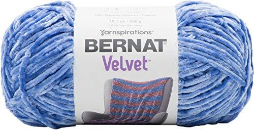 Bernat Velvet Yarn, 10.5 oz, 1 Ball, Rich Blue