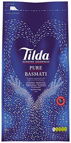 TILDA PURE BASMATI Basmatireis, 1er Pack (1 x 10 kg Packung) by Yulo Toys Inc