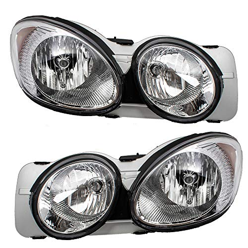 Driver and Passenger Headlights Headlamps Replacement for Buick 25942066 25942067