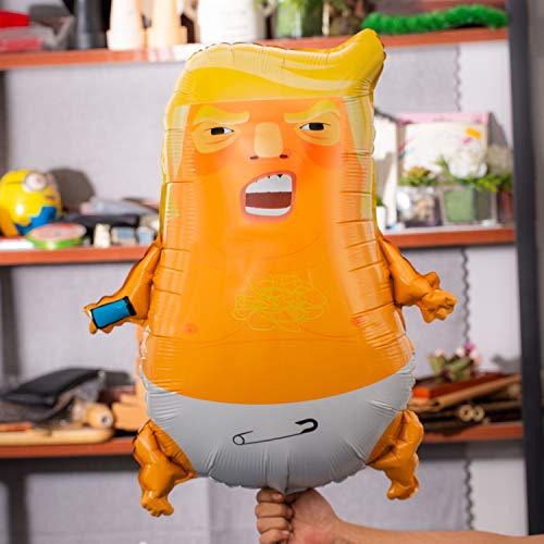 10 Pack Bonus - Angry Baby Trump Foil Balloons | 24 inches | Perfect for Parties | Gag Gifts | 100% Satisfaction Guarantee by AllForYu