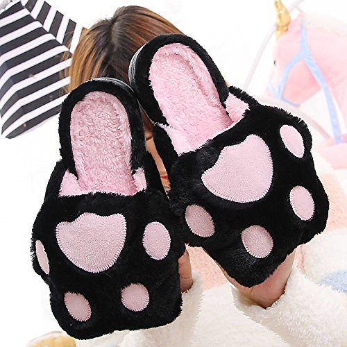 Winter Women's Cute Footprints Slippers Warm Indoor Bedroom House Shoes Size 270 for EU39-40 260 E8ePX