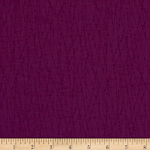 P & B Textiles Bear Essentials 3 Contour Dots Violet Fabric by The Yard -  0564519