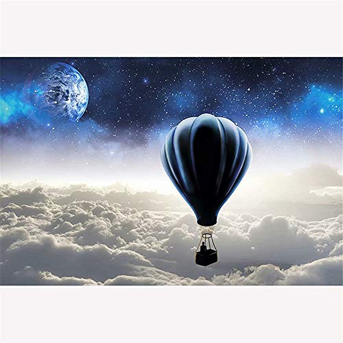 Diy Oil Painting, Paint by Number Kit,Star Hot Air Balloon,16X20 Inch ()