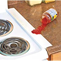 2 PACK WHITE Silcone Stove Counter Gap Seal, Flexible Gap Cover, Dishwasher Safe